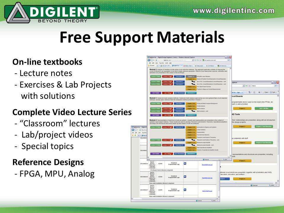 Free Support Materials
