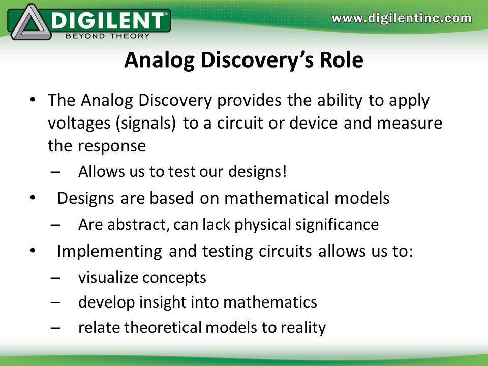 Analog Discovery's Role