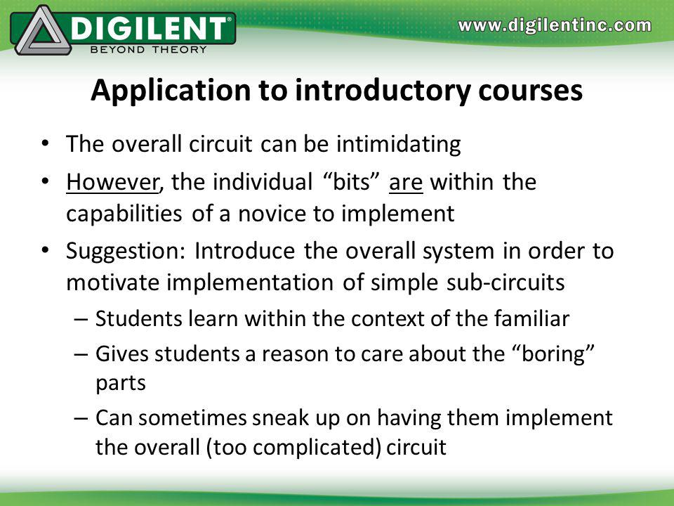 Application to introductory courses