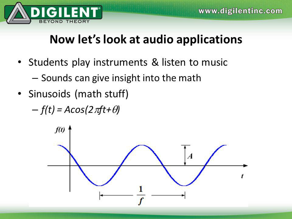 Now let's look at audio applications