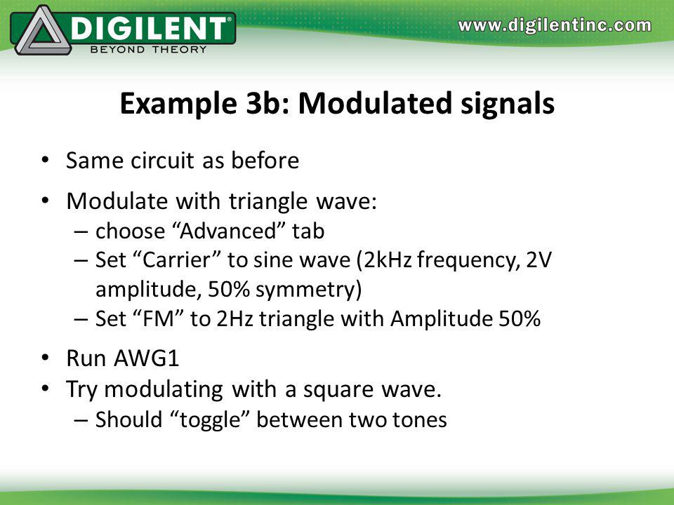 Example 3b: Modulated signals