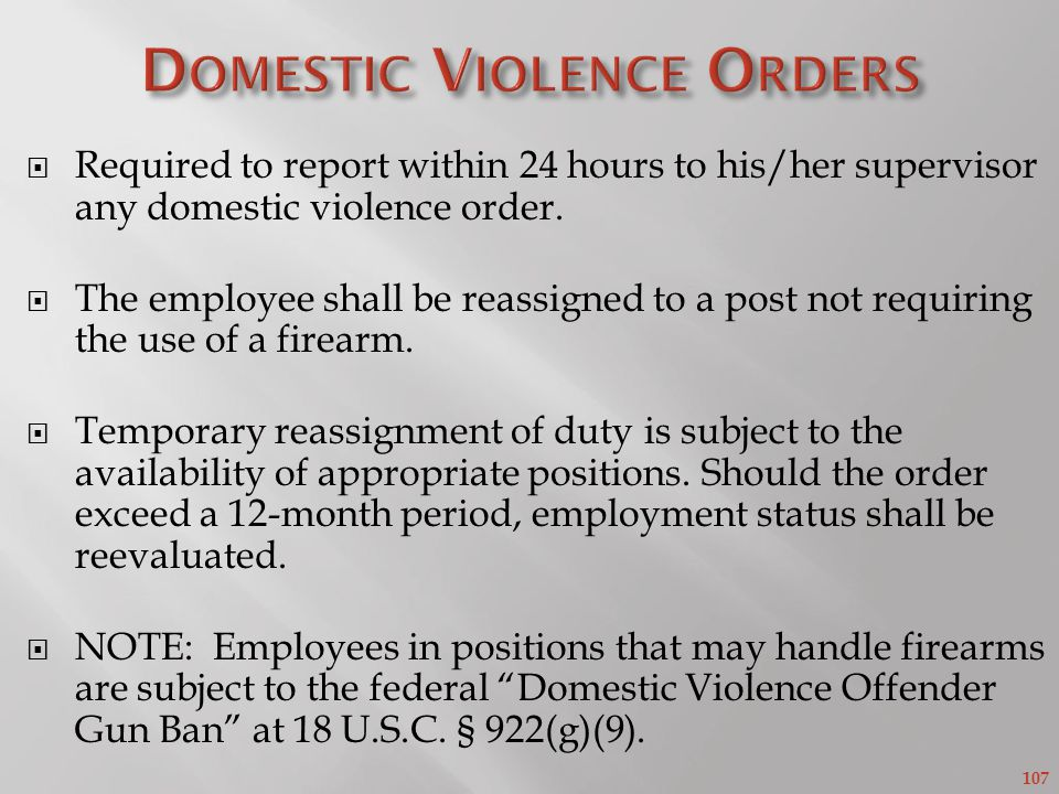 Domestic Violence Orders