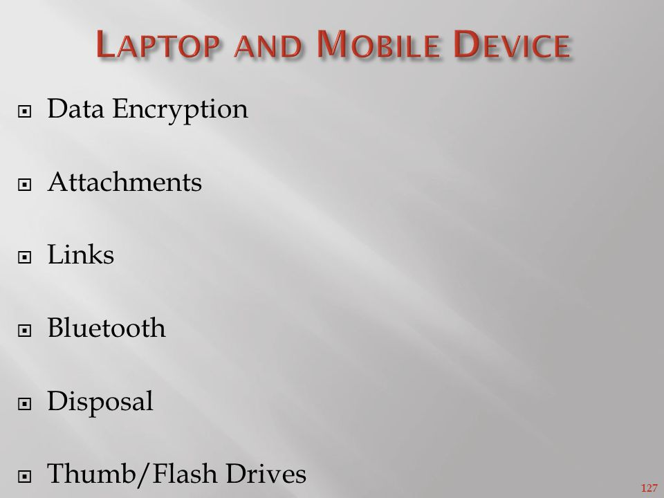 Laptop and Mobile Device