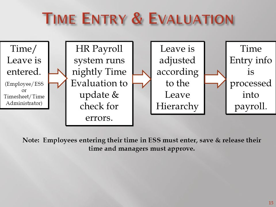 Time Entry & Evaluation