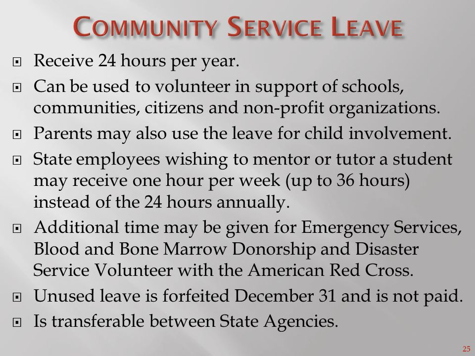 Community Service Leave