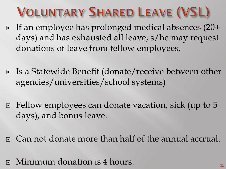 Voluntary Shared Leave (VSL)