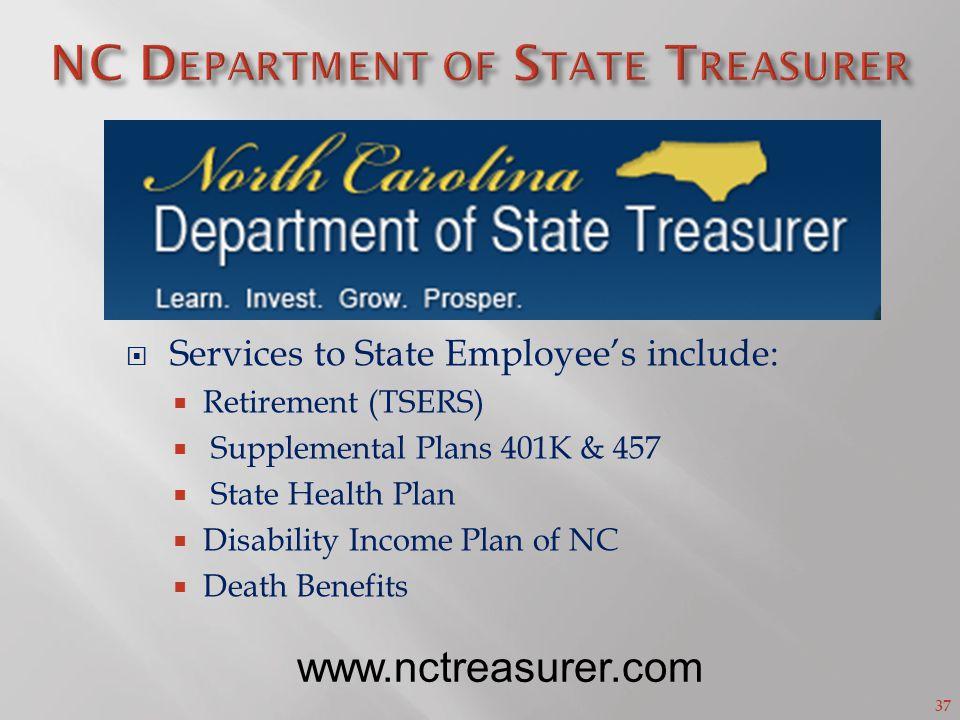 NC Department of State Treasurer