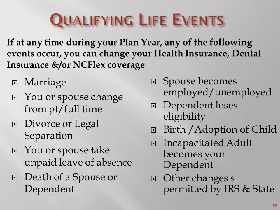 Qualifying Life Events