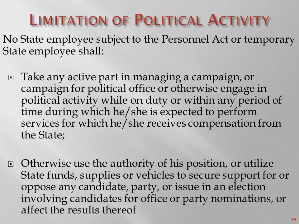 Limitation of Political Activity