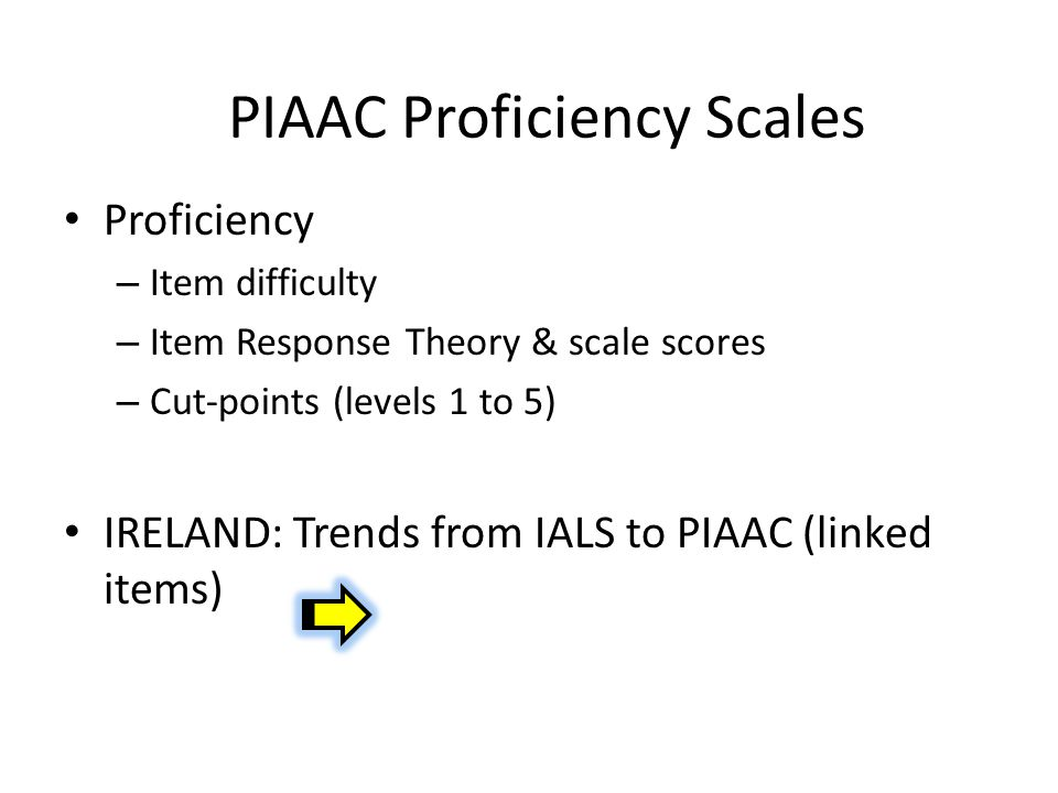 PIAAC Proficiency Scales