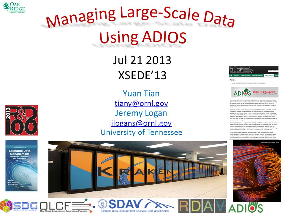 Managing Large-Scale Data Using ADIOS