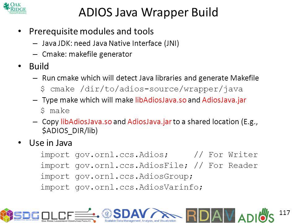 ADIOS Java Wrapper Build