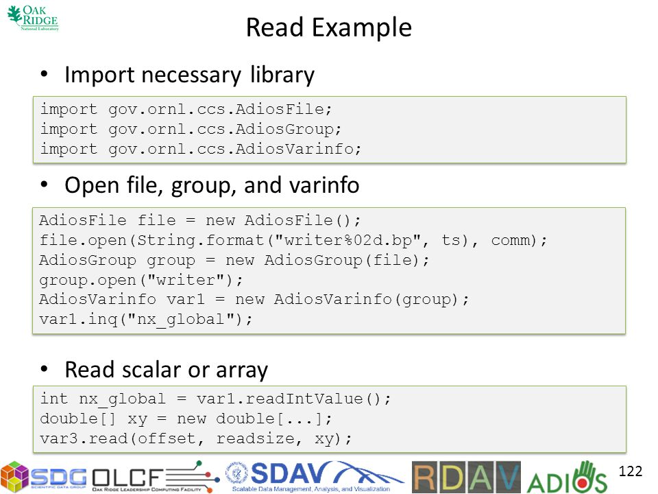 Read Example Import necessary library Open file, group, and varinfo
