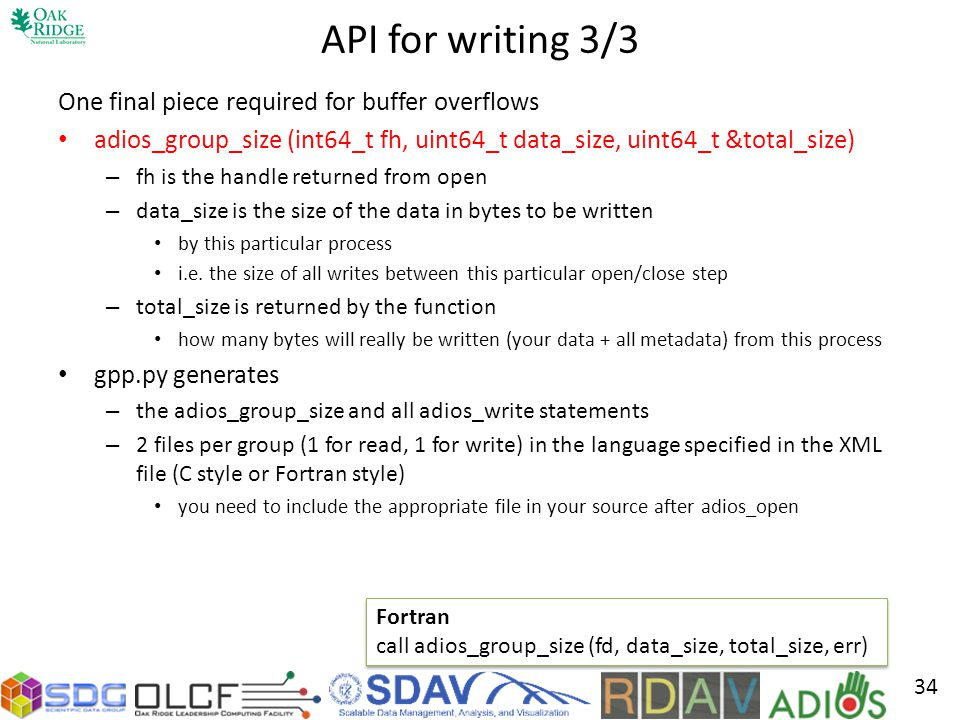 API for writing 3/3 One final piece required for buffer overflows