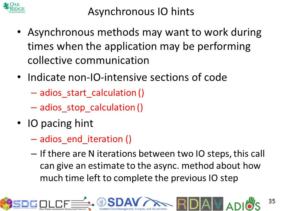Indicate non-IO-intensive sections of code