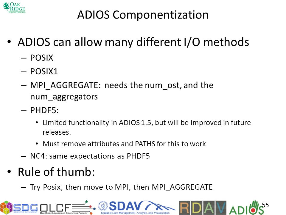 ADIOS Componentization