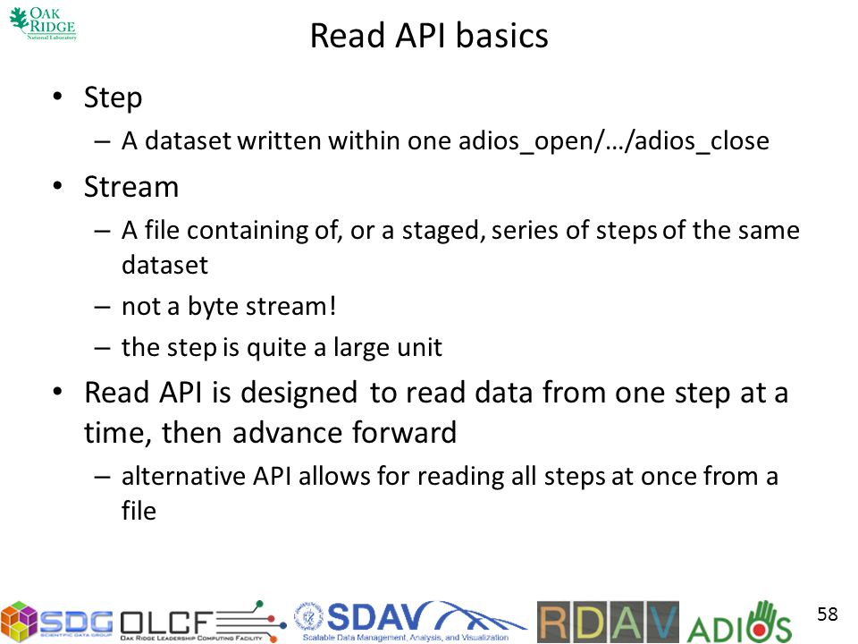 Read API basics Step Stream