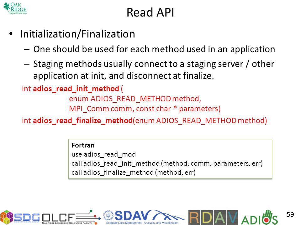 Read API Initialization/Finalization
