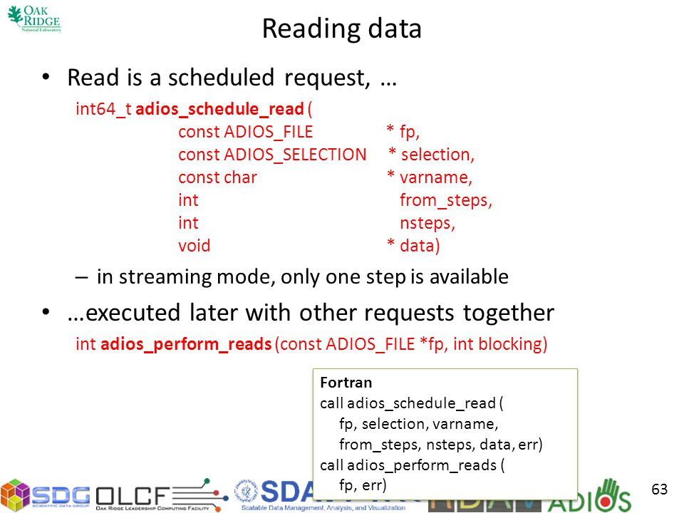 Reading data Read is a scheduled request, …