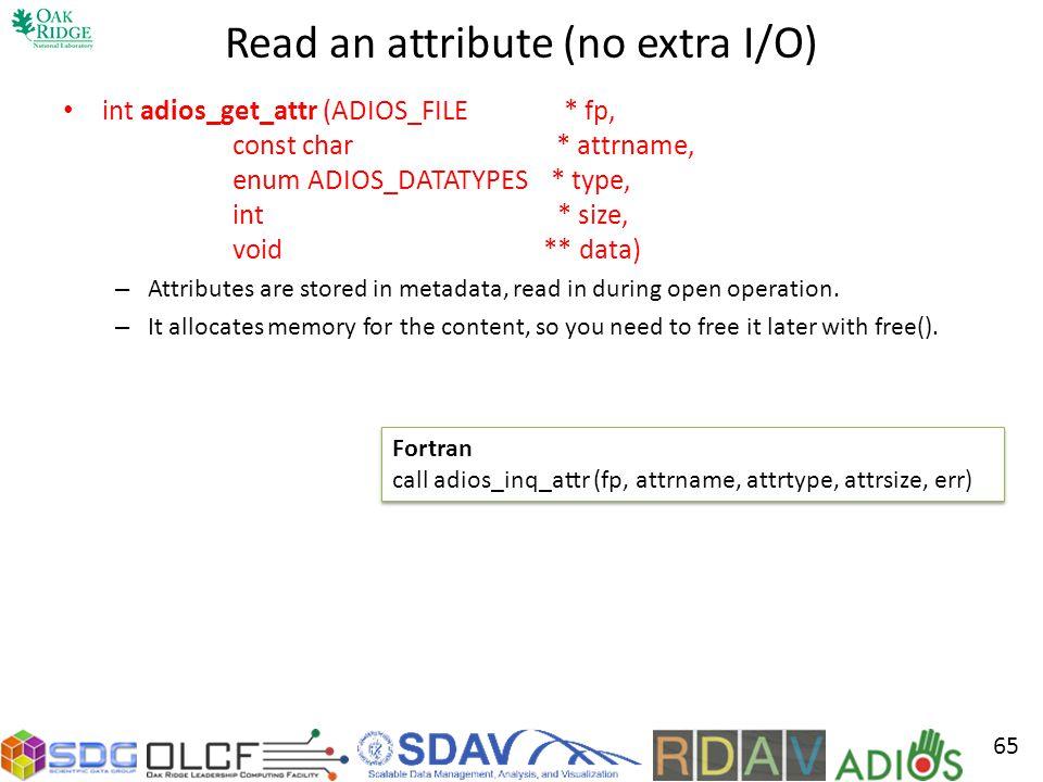 Read an attribute (no extra I/O)