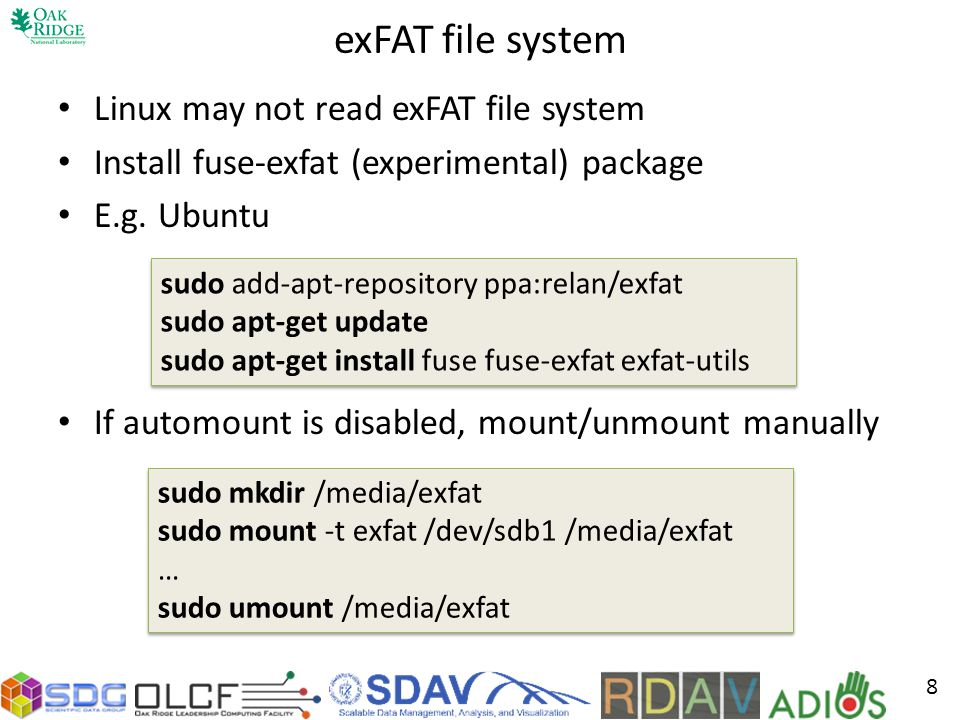 exFAT file system Linux may not read exFAT file system