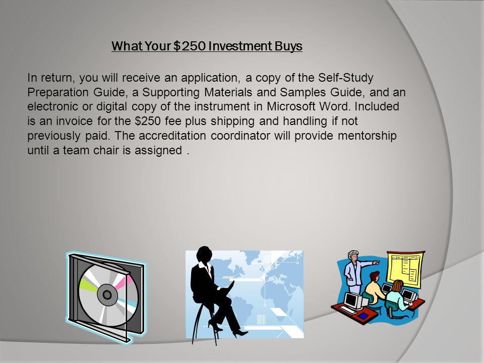 What Your $250 Investment Buys