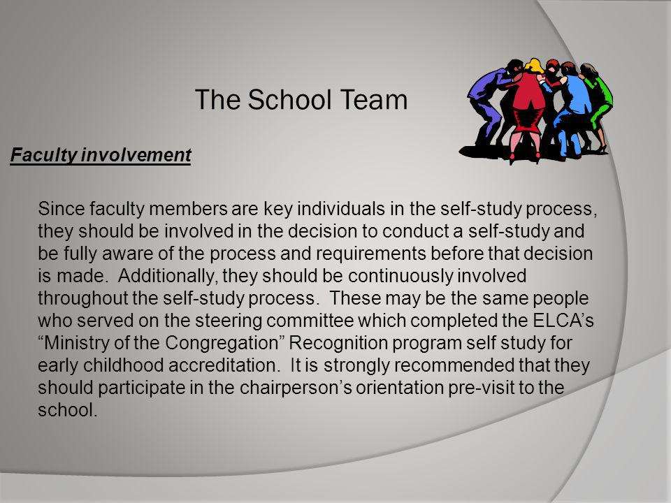 The School Team Faculty involvement