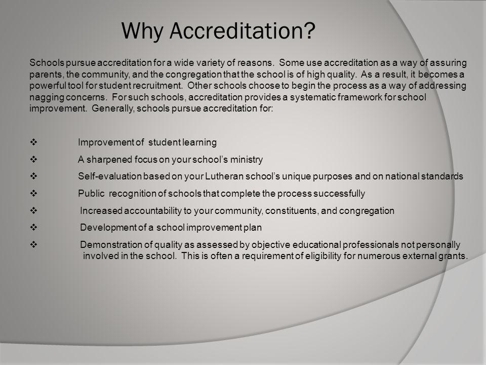 Why Accreditation