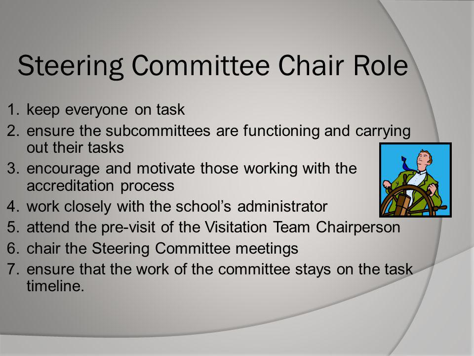 Steering Committee Chair Role