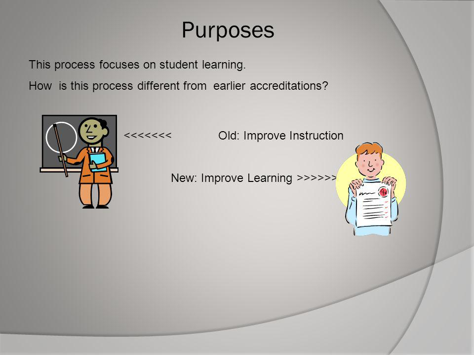 Purposes This process focuses on student learning.