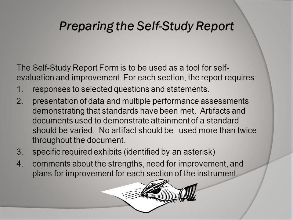 Preparing the Self-Study Report