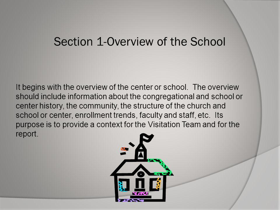 Section 1-Overview of the School