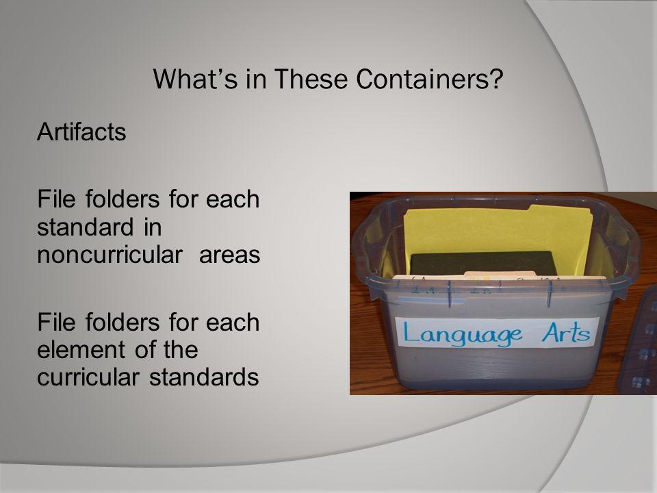What's in These Containers