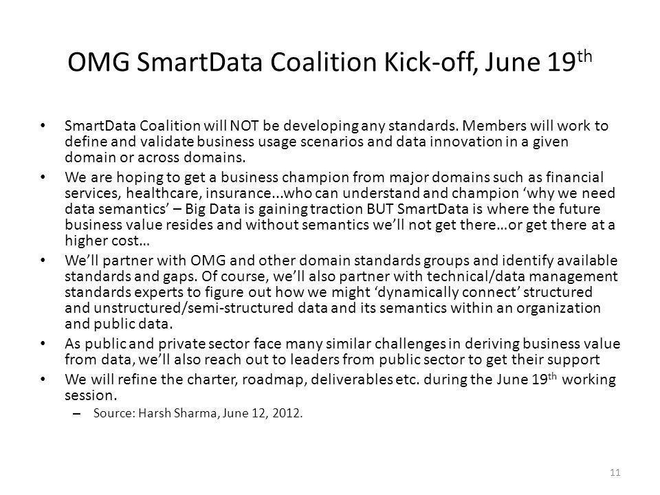 OMG SmartData Coalition Kick-off, June 19th