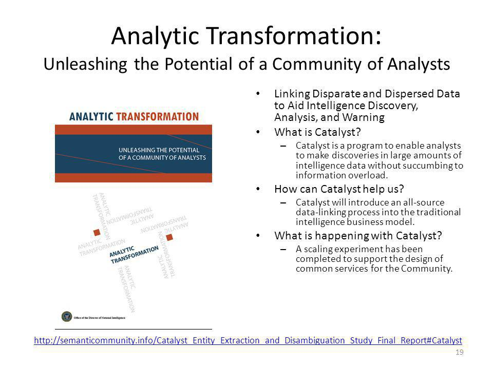 Analytic Transformation: Unleashing the Potential of a Community of Analysts