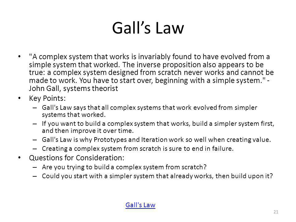 Gall's Law