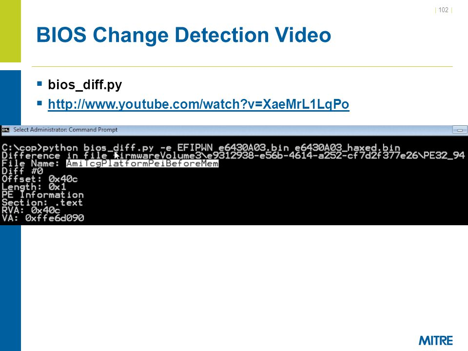BIOS Change Detection Video