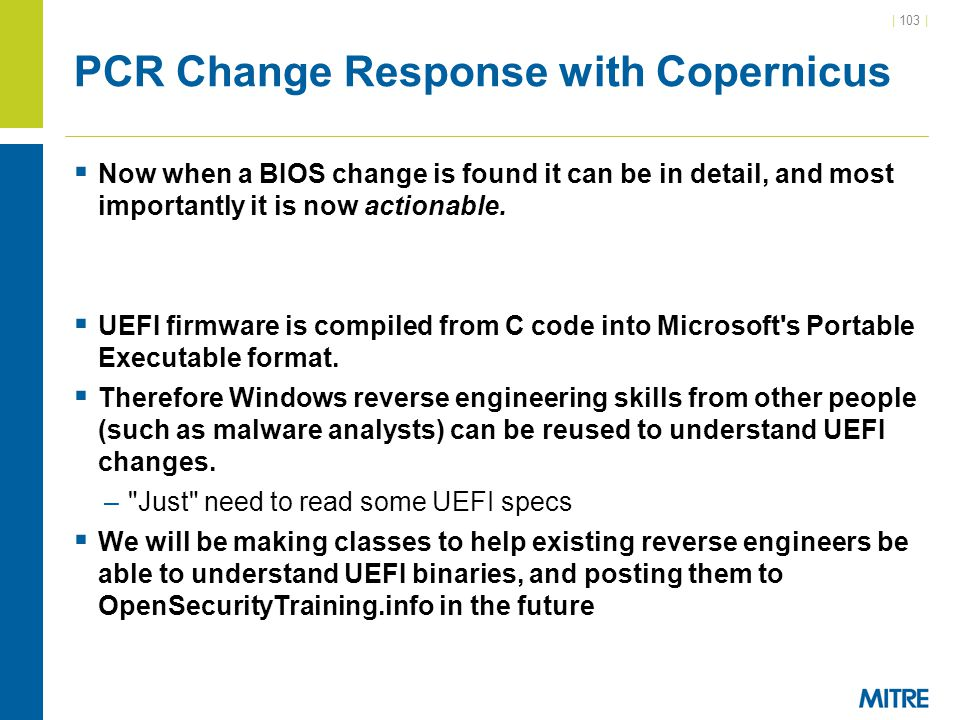 PCR Change Response with Copernicus