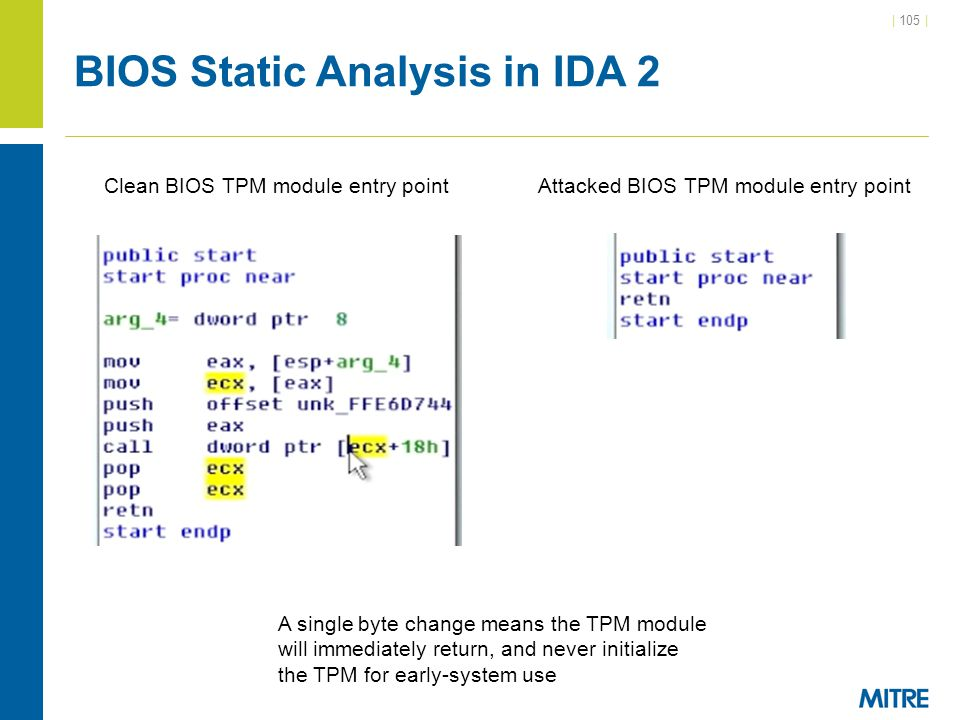 BIOS Static Analysis in IDA 2