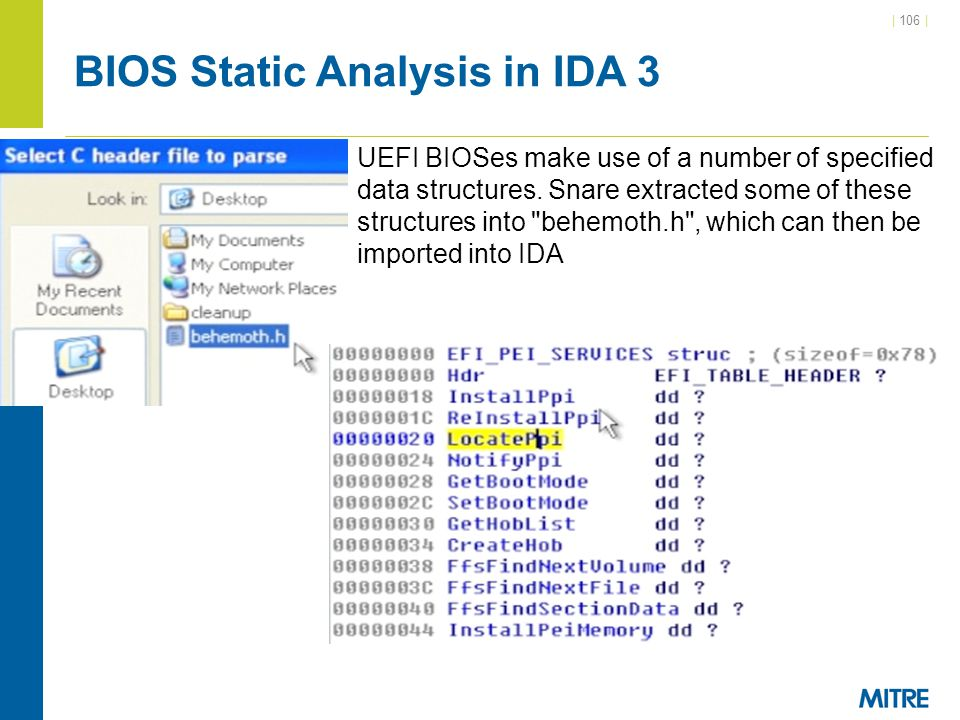 BIOS Static Analysis in IDA 3
