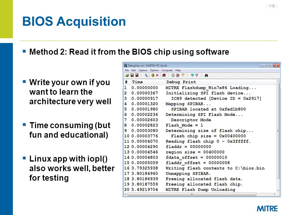 BIOS Acquisition Method 2: Read it from the BIOS chip using software