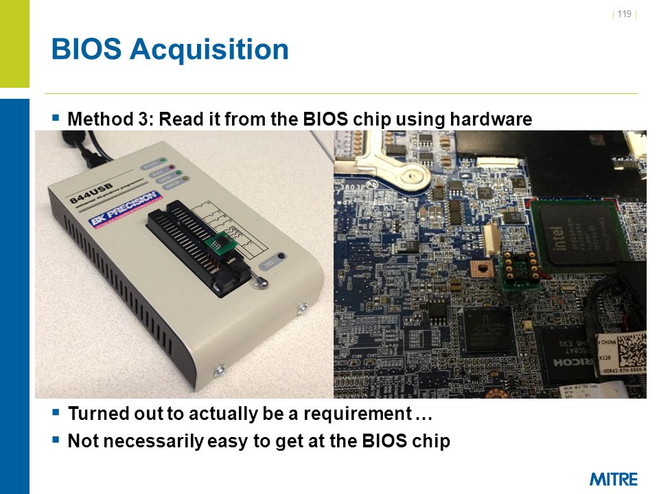 BIOS Acquisition Method 3: Read it from the BIOS chip using hardware