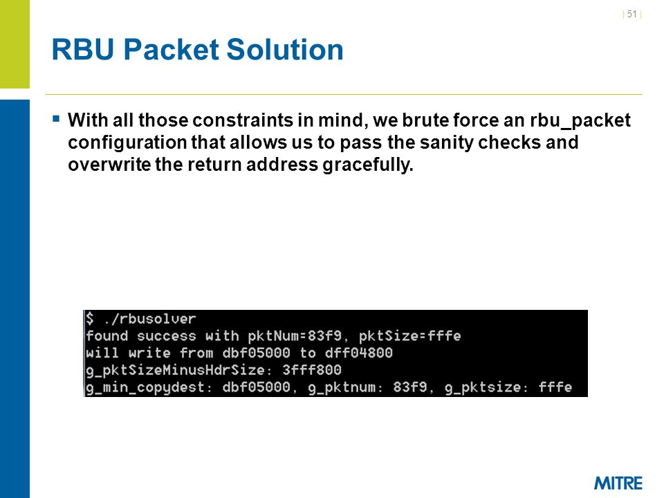 RBU Packet Solution