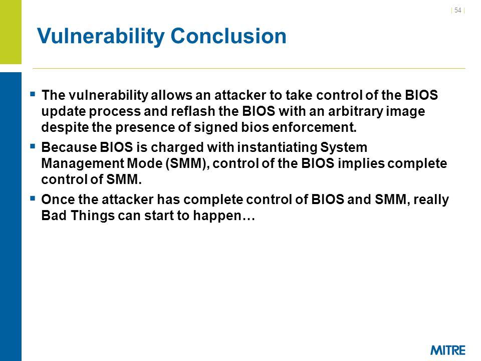 Vulnerability Conclusion
