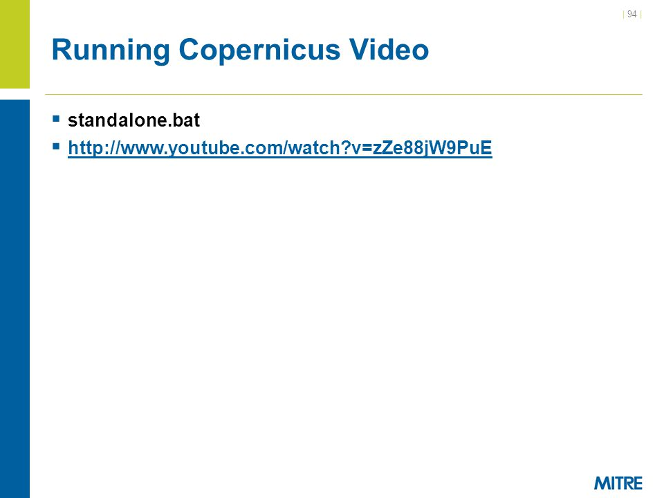 Running Copernicus Video