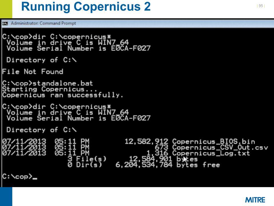 Running Copernicus 2