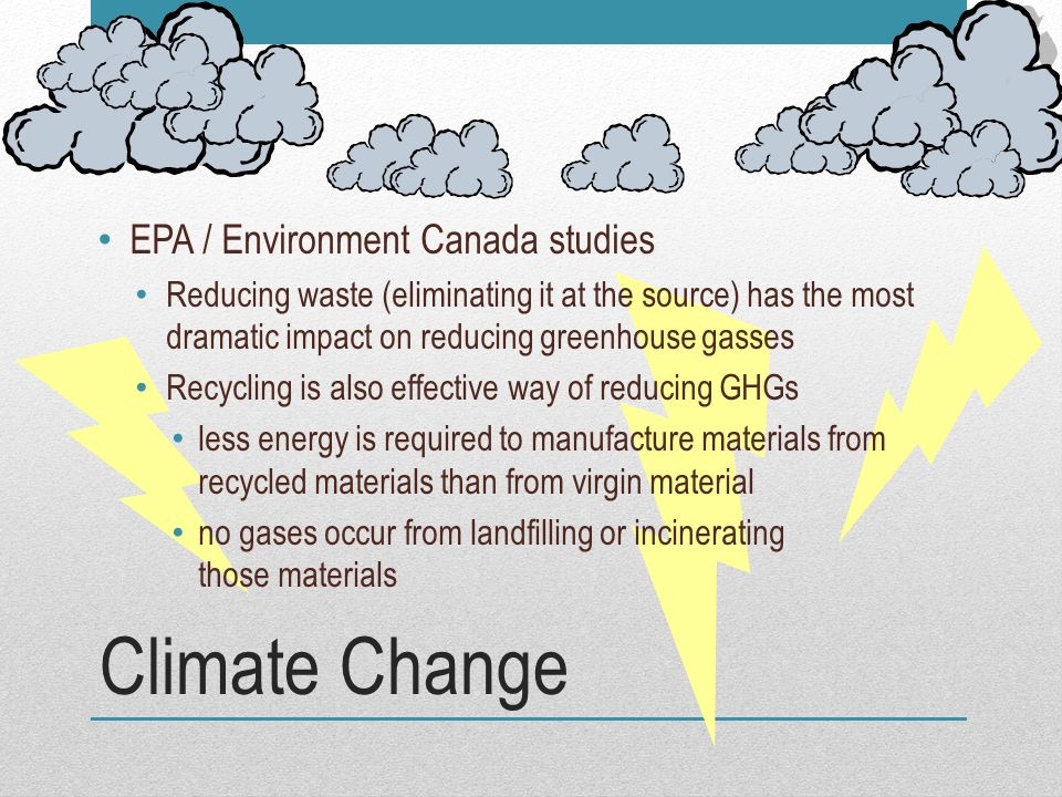 Climate Change EPA / Environment Canada studies