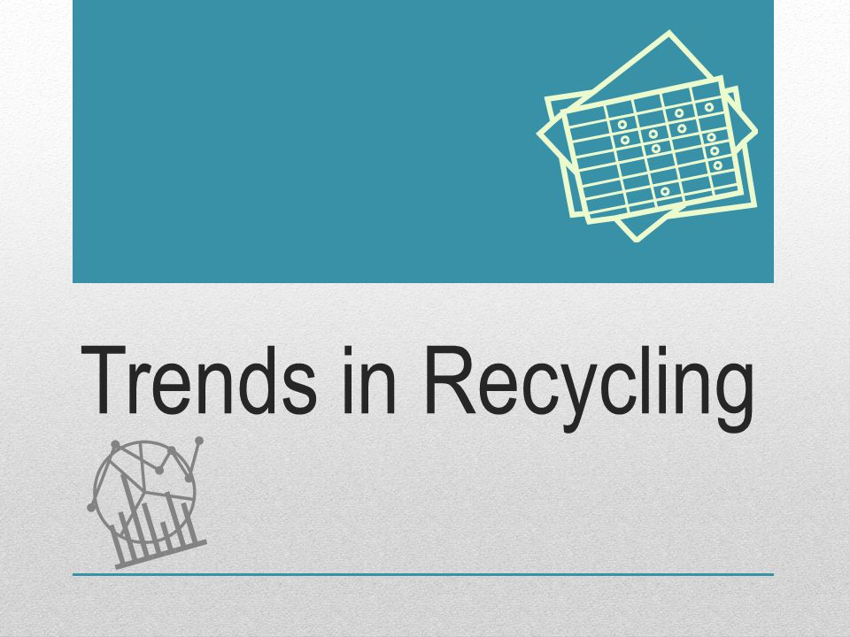 Trends in Recycling