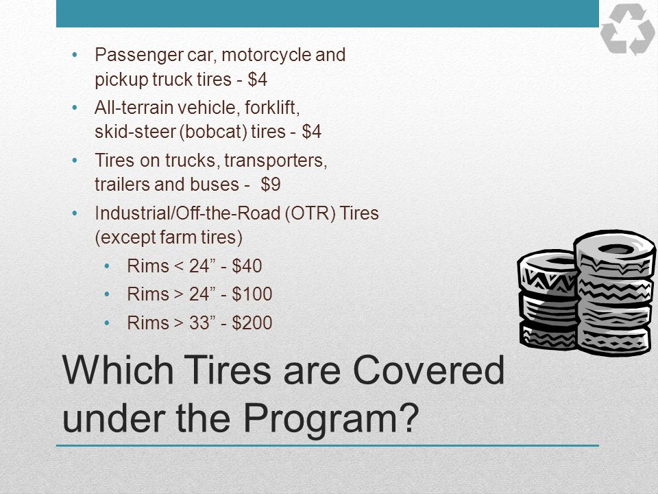 Which Tires are Covered under the Program
