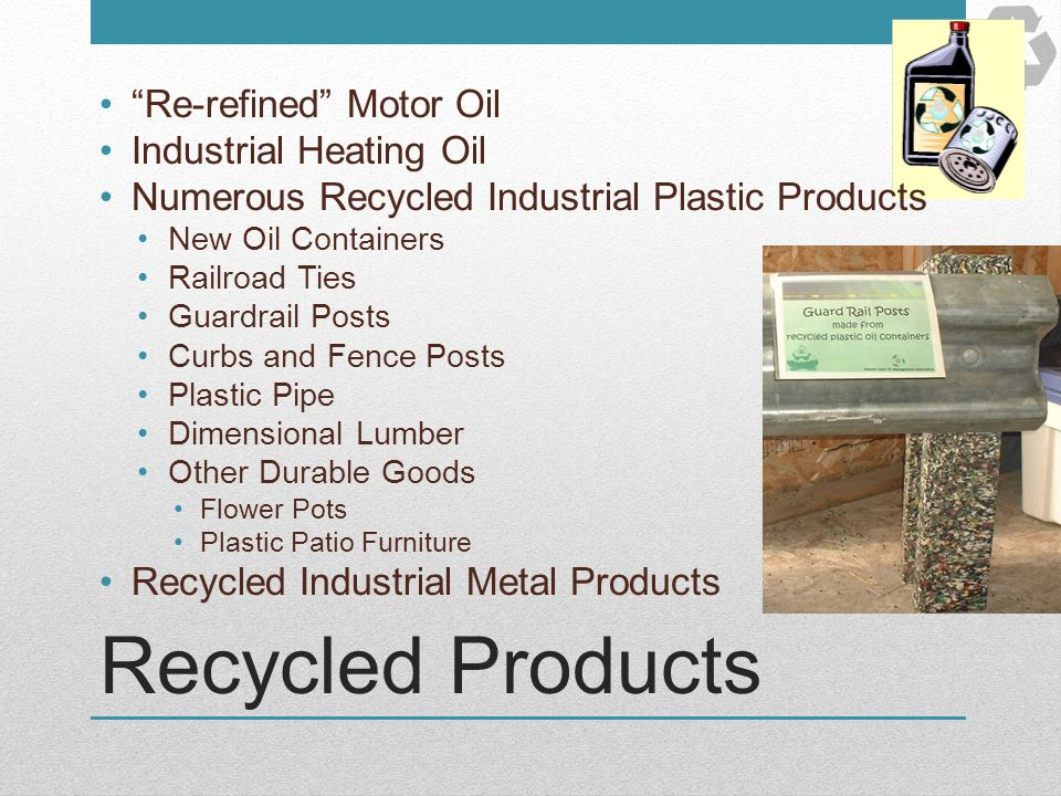 Recycled Products Re-refined Motor Oil Industrial Heating Oil